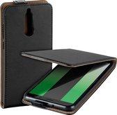 MP Case zwart eco lederen flip case voor Huawei Mate 10 Lite flip cover