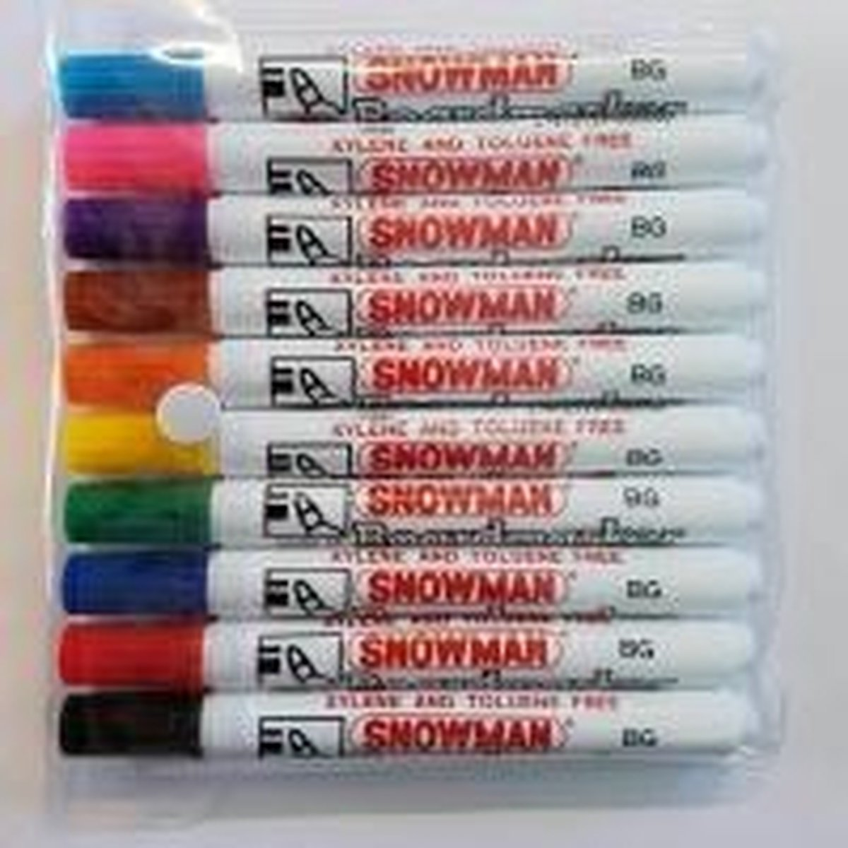 Snowman - BG-10 whitebord markers - assorti á 10 stuks, made in Japan - Snowman