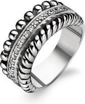 TI SENTO Milano Ring 1836ZI - Maat 60 (19 mm) - Gerhodineerd Sterling Zilver