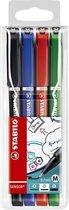 STABILO SENSOR Fineliner 0,7 mm - Etui 4 kleuren
