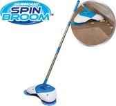 Hurricane Spin Broom rolveger - bezem 2 in 1 - schoonmaak borstel