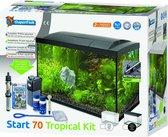 Superfish start 70 tropical kit -  58 x 28 x 45 cm - 70 L -  Zwart