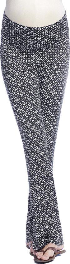 Queen mum positiemode broek - black/white - XL