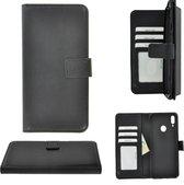 Pearlycase Hoes Wallet Book Case Zwart voor Huawei Y7 2019