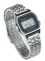 Hidzo Horloge Digital Watch ø 37 mm - Zilver - Staal
