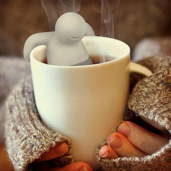Mr. Tea Theefilter Thee mannetje - Grijs - Voor losse thee