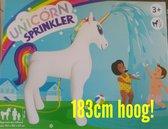 XXL Unicorn Sproeier Opblaasbaar - 183 CM hoog