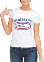 Wit dames t-shirt Nederland XL