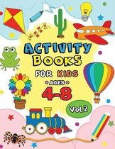 Activity Books for Kids Ages 4-8 Vol,2