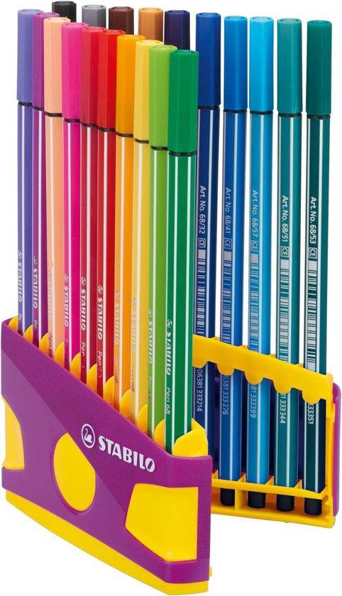 Thumbnail van een extra afbeelding van het spel STABILO pen 68 colorparade lila