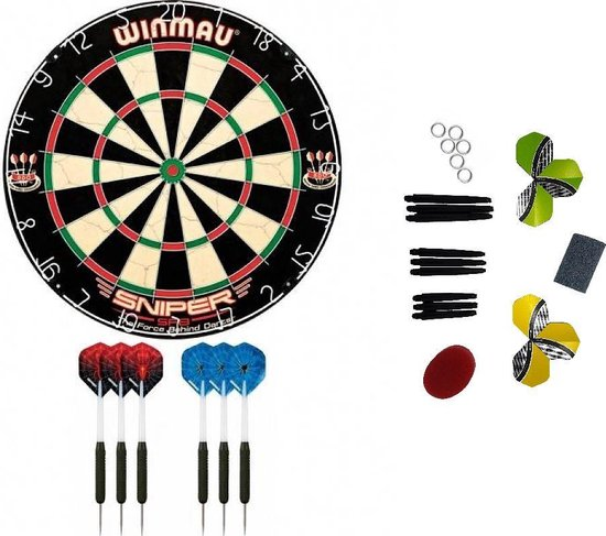 Dragon darts - Winmau Sniper darters startersset - Dartbord - dartpijlen - tune up kit