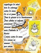 coquillages de soleil livre de coloriage cartes de voeux En or et jaune Pour le plaisir et le divertissement Pour adultes et enfants amusement relaxant avoir l'habitude de d corer Comme cartes de voeux Ou comme un souvenir par artiste Grace Divine