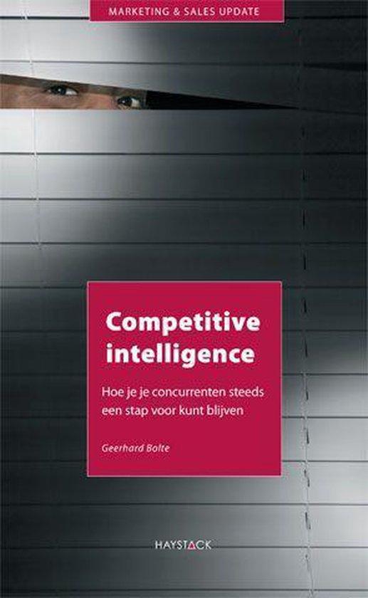 Marketing en sales update - Competitive intelligence - Geerhard Bolte  