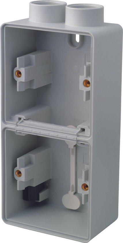 NIKO Hydro opbouw doos - dubbel - twee ingangen aan één zijde
