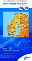ANWB wegenkaart - Scandinavië/IJsland 5. Noorwegen/Zweden