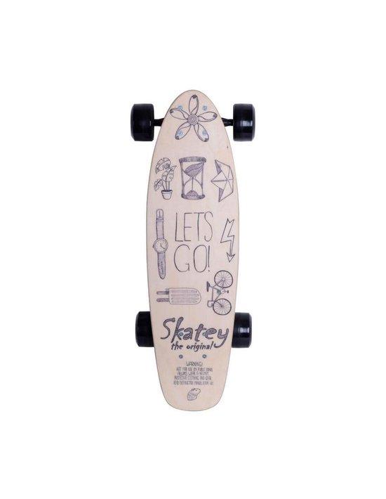Skatey 150 Lithium Wood-art Electrisch Skateboard Junior 80 Cm