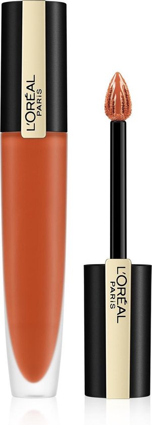 L'Oréal Paris Rouge Signature Lippenstift - 112 I Achieve - Oranje - Matte Vloeibare Lipstick