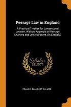 Peerage Law in England