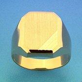 Geelgouden Graveerring mat gediamanteerd 4015661 21.00 mm (66)