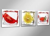 Art4-all - Canvas Schilderij IJsblokjes - 150x50cm
