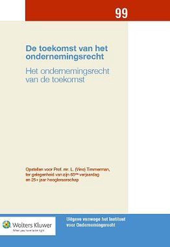 Boek cover De toekomst van het ondernemingsrecht van  (Hardcover)