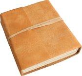 One World Interiors Natural – Notitieboek – Reisboek – Medium – Licht bruin - Buffalo leer