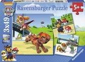 Ravensburger Paw Patrol. Team op 4 poten- Drie puzzels van 49 stukjes - kinderpuzzel