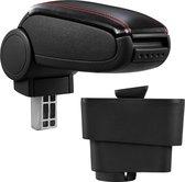 Armsteun-Fiat Grande Punto-kunstleer-zwart+rood stiksel