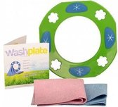 Vaatdoekhouder (groen) - Microvezeldoekjes - Voor in de vaatwasser - Inclusief 2 doekjes