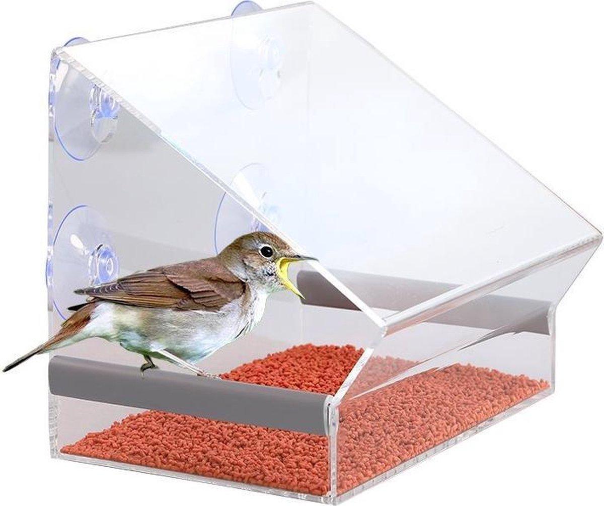 Nature Windows Bird Feeder Raamvoederhuisje - Zonder Zijwanden - Transparant - Nature Windows Bird Feeder