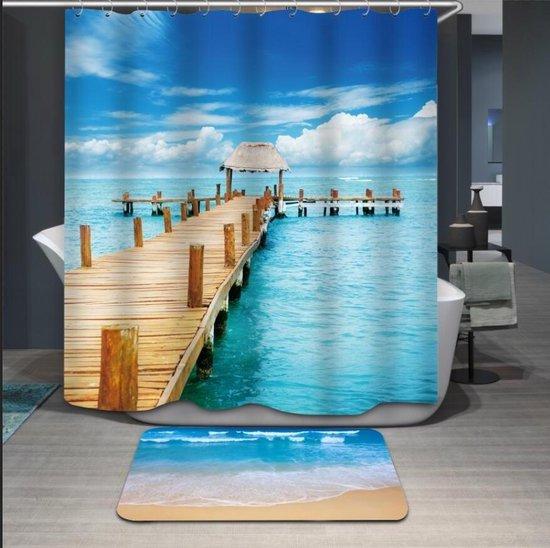 Papillon - Douchegordijn textiel Paradijs pier - 180x200 cm