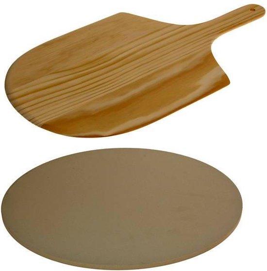 Afbeelding van Excellent Houseware Pizza-baksteen - met pizza-schep