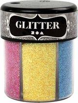 Glitter, 6x13 gr, kleuren assorti