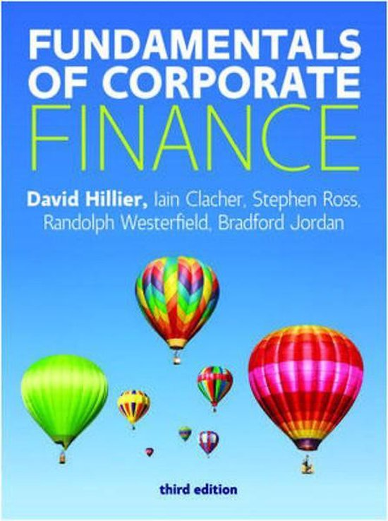 Boek cover Fundamentals of Corporate Finance van McGraw-Hill (Paperback)