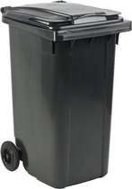 Kunststof Kliko Afval Rolcontainer Mini container - 240 liter - Grijs