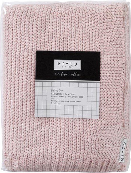 Meyco Silverline Relief Mixed ledikantdeken - 100 x 150 cm - roze