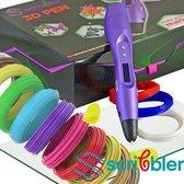 XXL-Set: Scribbler III Purple  3d pen! MY 2019! 12x10m+ CLIPS + TIPS + 3DPAD
