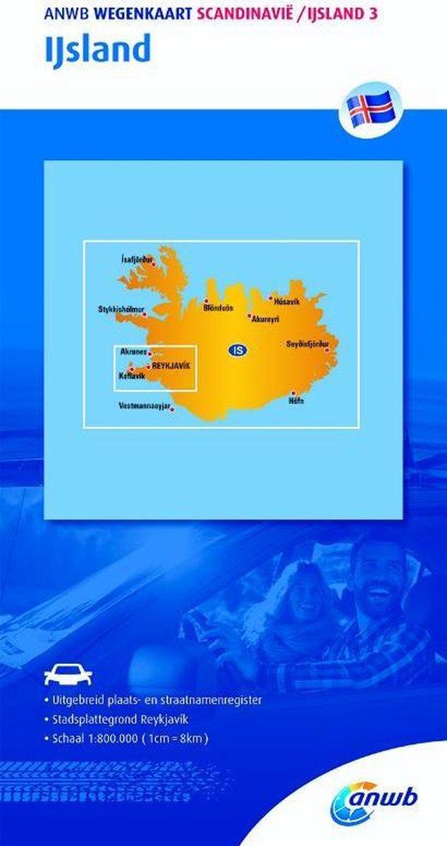 ANWB wegenkaart - Scandinavië/IJsland 3. IJsland - ANWB