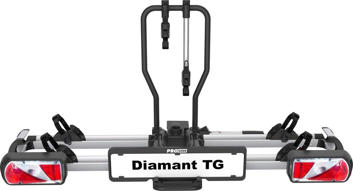 Pro-User Diamant TG Fietsendrager - 2 fietsen - Zilver
