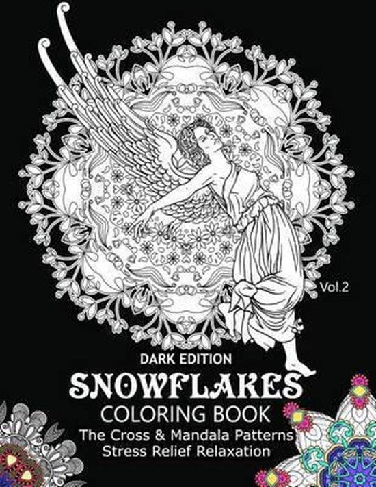 Snowflake Coloring Book Dark Edition Vol.2