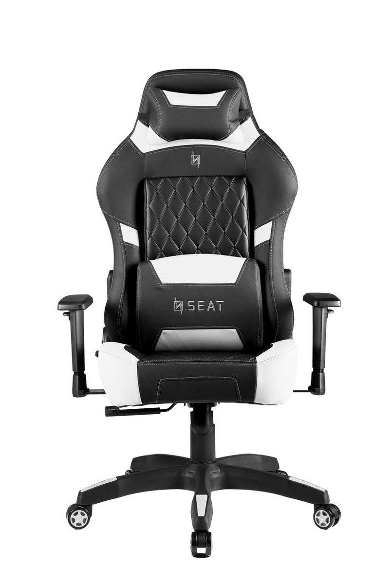 N. Seat PRO 500 Series Gaming Race / bureaustoel - Wit/Zwart ( Ergonomisch & Comfortabel )
