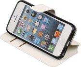 Wit Apple iPhone 6 / 6s TPU wallet case - telefoonhoesje - smartphone hoesje - beschermhoes - book case - booktype hoesje HM Book