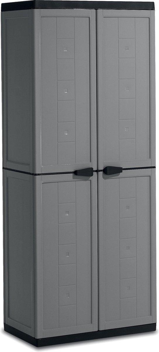 Kis Jolly Opbergkast hoog - 68x166x39 cm - Grijs/Zwart