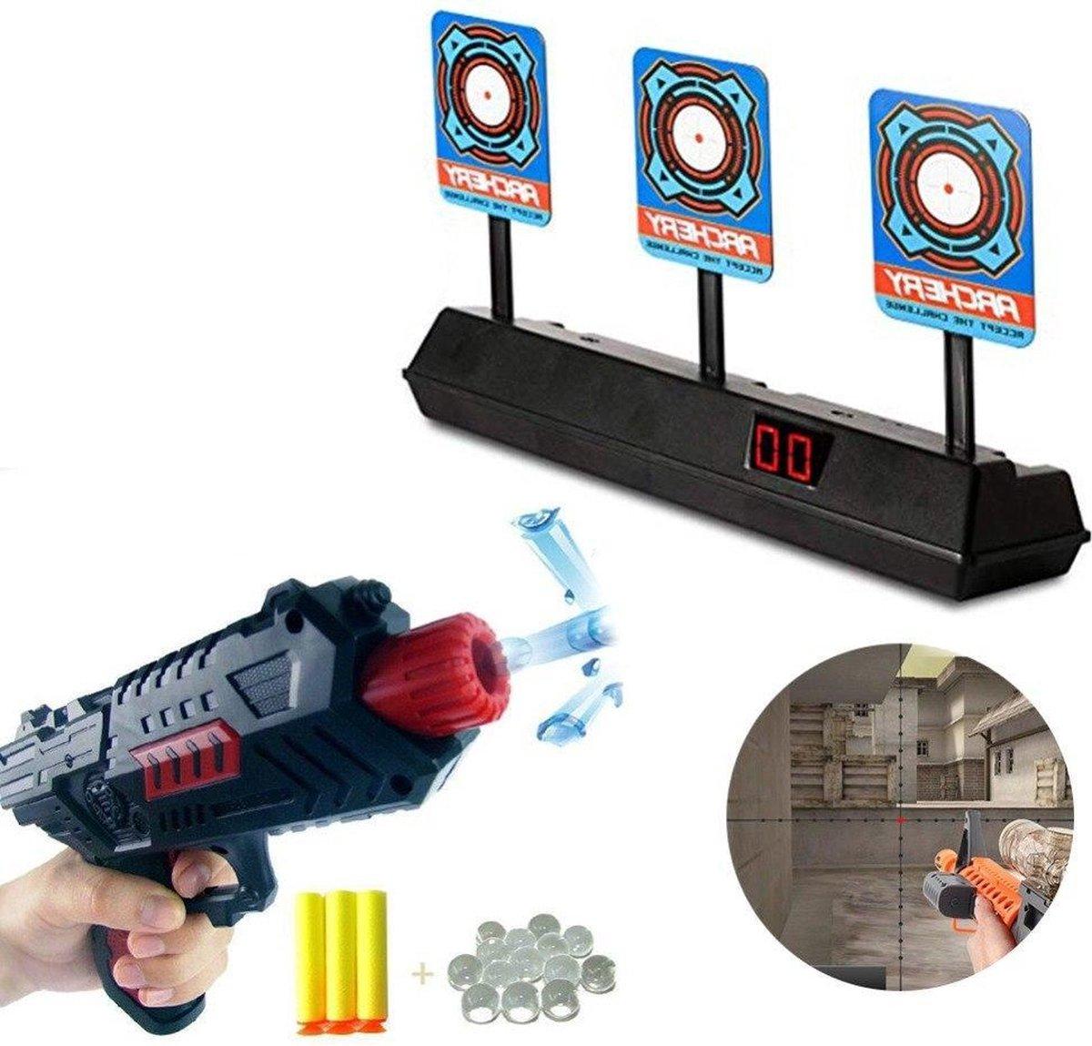 Elektrische Schietschijf Target - Geschikt Nerf Gun Schietspel Pistolen - Digitaal Doelwit Met Drie Schiet Targets - Met LCD Score Bord