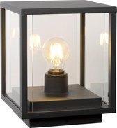 Lucide CLAIRE Sokkellamp Buiten - E27 - IP54 - Antraciet