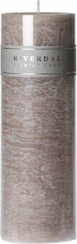 Geurkaars Pillar L.Grey 7.5x23cm