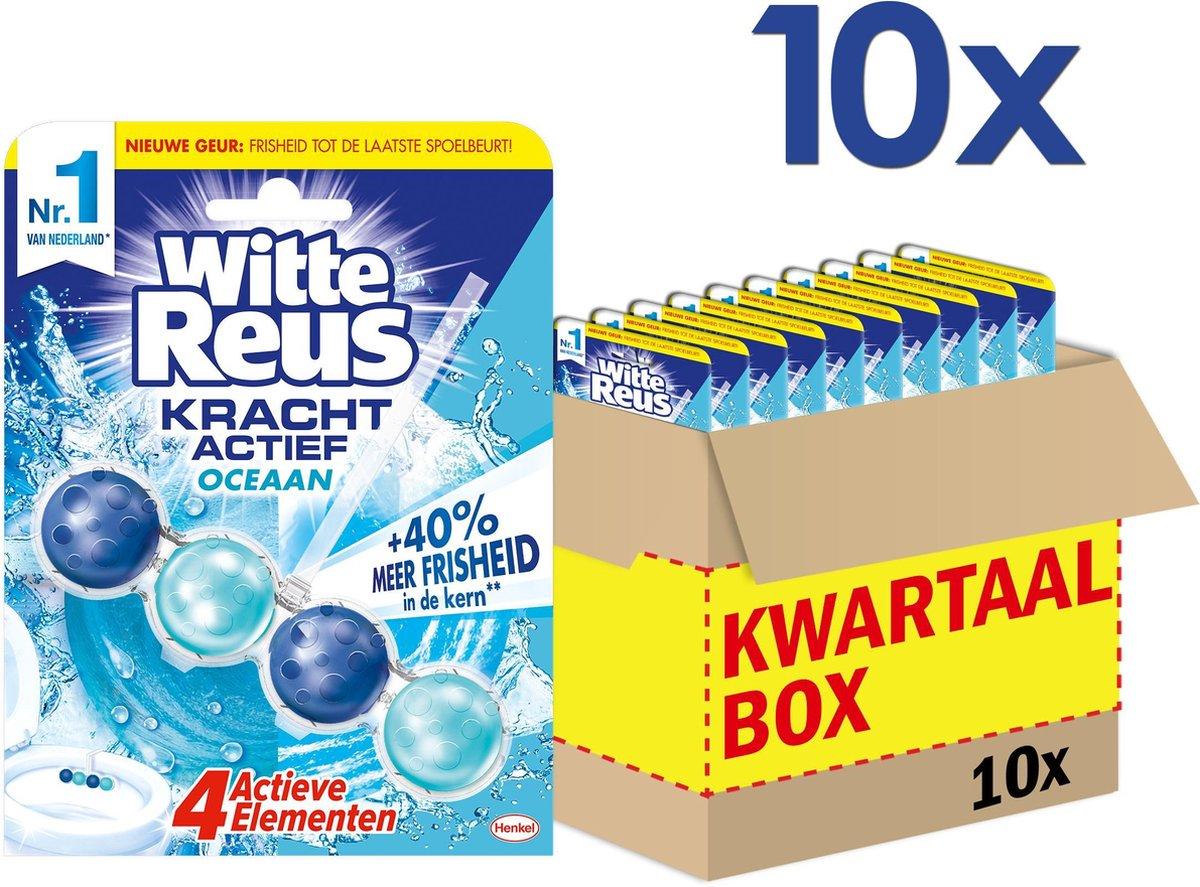 Witte Reus Kracht Actief Oceaan Toiletblok - WC Blokjes Voordeelverpakking - 10 Stuks