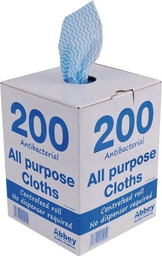 Multifunctionele antibacteriële doekjes blauw