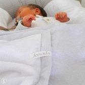 Wieg deken baby   Baby deken   Wikkeldoek   Grijs Streep   Ivy and Soof