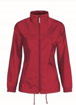 Dames regenkleding - Sirocco windjas/regenjas in het rood - volwassenen XS (34) rood